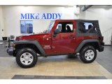2011 Deep Cherry Red Crystal Pearl Jeep Wrangler Sport 4x4 #46654027
