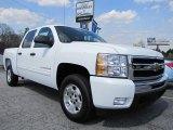 2011 Summit White Chevrolet Silverado 1500 LT Crew Cab #46654100