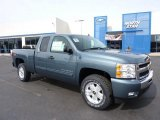 2011 Blue Granite Metallic Chevrolet Silverado 1500 LT Extended Cab 4x4 #46653963