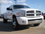 2008 Bright White Dodge Ram 3500 Laramie Quad Cab 4x4 Dually #46654277