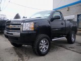 2011 Black Chevrolet Silverado 1500 LS Regular Cab 4x4 #46653832