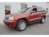 2008 Red Rock Crystal Pearl Jeep Grand Cherokee Limited 4x4 #46653838