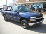 2002 Indigo Blue Metallic Chevrolet Silverado 1500 Work Truck Regular Cab 4x4 #46654015