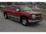 2004 Victory Red Chevrolet Silverado 1500 LS Extended Cab 4x4 #46654354