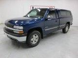 1999 Indigo Blue Metallic Chevrolet Silverado 1500 LS Regular Cab 4x4 #46697049