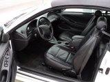 2002 Ford Mustang V6 Convertible Dark Charcoal Interior