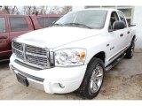 2008 Bright White Dodge Ram 1500 Laramie Quad Cab 4x4 #46698046