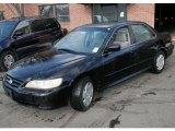 2002 Nighthawk Black Pearl Honda Accord LX V6 Sedan #46697308