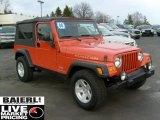 2006 Impact Orange Jeep Wrangler Unlimited Rubicon 4x4 #46697351