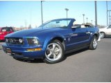2006 Vista Blue Metallic Ford Mustang V6 Deluxe Convertible #4659912