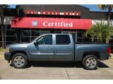 2009 Blue Granite Metallic Chevrolet Silverado 1500 LT Crew Cab #46697506