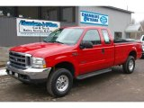 2003 Red Clearcoat Ford F250 Super Duty XLT SuperCab 4x4 #46697597