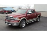 2011 Deep Cherry Red Crystal Pearl Dodge Ram 1500 Laramie Crew Cab 4x4 #46698230