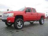 2008 Victory Red Chevrolet Silverado 1500 Z71 Extended Cab 4x4 #46697835