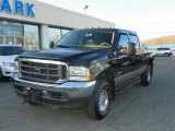 2004 Dark Green Satin Metallic Ford F250 Super Duty Lariat Crew Cab 4x4 #46776523