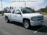 2011 Summit White Chevrolet Silverado 1500 LT Extended Cab 4x4 #46777184