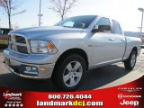2011 Bright Silver Metallic Dodge Ram 1500 Big Horn Quad Cab 4x4 #46776393
