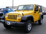 2011 Detonator Yellow Jeep Wrangler Sport 4x4 #46776999