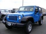 2011 Cosmos Blue Jeep Wrangler Sport 4x4 #46777001