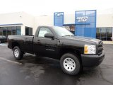 2011 Black Chevrolet Silverado 1500 Regular Cab 4x4 #46776444