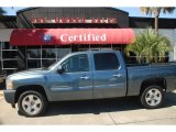 2009 Blue Granite Metallic Chevrolet Silverado 1500 LT Crew Cab #46776132