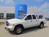 2004 Bright White Dodge Ram 1500 ST Quad Cab 4x4 #46870145
