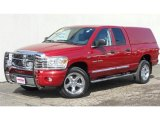 2007 Inferno Red Crystal Pearl Dodge Ram 1500 Laramie Quad Cab 4x4 #46869495
