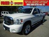 2007 Bright White Dodge Ram 1500 Laramie Quad Cab #46870154