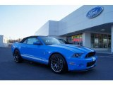 2011 Grabber Blue Ford Mustang Shelby GT500 SVT Performance Package Convertible #46869538