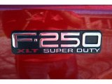 2003 Ford F250 Super Duty FX4 SuperCab 4x4 Marks and Logos