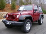 2011 Deep Cherry Red Crystal Pearl Jeep Wrangler Sport S 4x4 #46870073