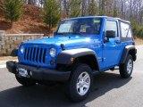 2011 Cosmos Blue Jeep Wrangler Sport 4x4 #46870076