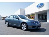 2011 Steel Blue Metallic Ford Fusion SE #46936756