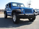 2011 Cosmos Blue Jeep Wrangler Unlimited Sport 4x4 #46936899