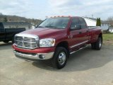 2008 Inferno Red Crystal Pearl Dodge Ram 3500 Big Horn Edition Quad Cab 4x4 Dually #46936788
