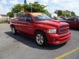 2004 Flame Red Dodge Ram 1500 SLT Sport Quad Cab #46957709