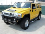 Yellow Hummer H2 in 2006
