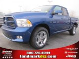 2011 Deep Water Blue Pearl Dodge Ram 1500 Sport Quad Cab #46966747