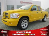 2008 Detonator Yellow Dodge Ram 1500 Sport Quad Cab #46966749