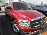 2007 Inferno Red Crystal Pearl Dodge Ram 1500 ST Quad Cab #46966865