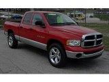 2003 Flame Red Dodge Ram 1500 SLT Quad Cab 4x4 #47005870