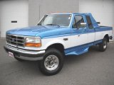 Reef Blue Metallic Ford F250 in 1995