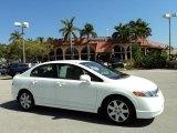 2007 Taffeta White Honda Civic LX Sedan #47057430