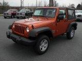 2011 Mango Tango Pearl Jeep Wrangler Sport 4x4 #47058044
