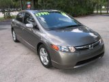 2006 Galaxy Gray Metallic Honda Civic EX Sedan #439639