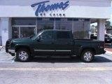 2006 Dark Green Metallic Chevrolet Silverado 1500 Z71 Crew Cab 4x4 #47057833
