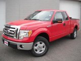 2010 Vermillion Red Ford F150 XLT SuperCab 4x4 #47112676