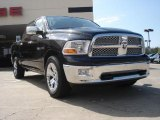 2009 Brilliant Black Crystal Pearl Dodge Ram 1500 Laramie Crew Cab #47113167