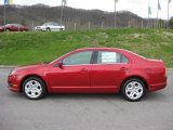 2011 Red Candy Metallic Ford Fusion SE V6 #47112715