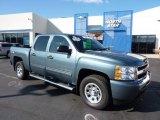 2010 Blue Granite Metallic Chevrolet Silverado 1500 LS Crew Cab 4x4 #47112867